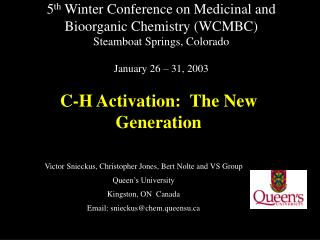 C-H Activation:  The New Generation