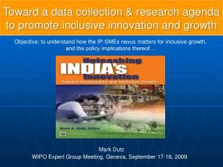 Toward a data collection & research agenda to promote inclusive innovation and growth