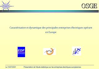 Caractérisation et dynamique des principales entreprises électriques opérant en Europe
