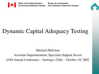 Dynamic Capital Adequacy Testing