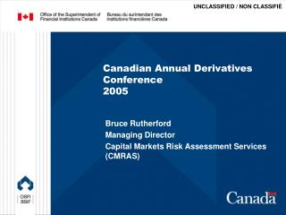 Canadian Annual Derivatives Conference 2005