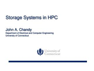 Storage Systems in HPC