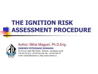 THE IGNITION RISK ASSESSMENT PROCEDURE