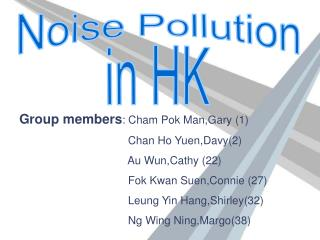 Noise Pollution in HK