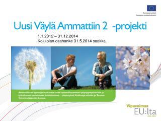 1.1.2012 – 31.12.2014 Kokkolan osahanke 31.5.2014 saakka