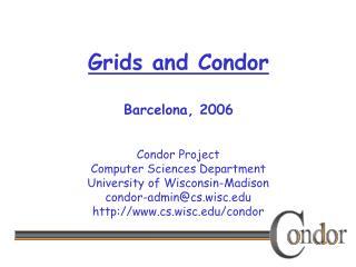 Grids and Condor Barcelona, 2006