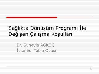 Sağlıkta Dönüşüm Programı İle Değişen Çalışma Koşulları