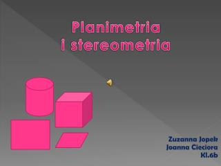 Planimetria  i stereometria