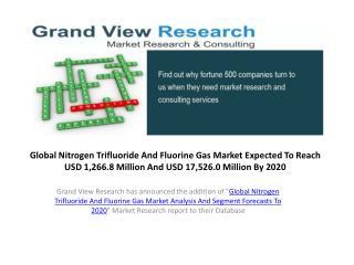 Nitrogen Trifluoride (NF3) And Fluorine Gas Market Outlook