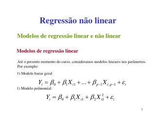 Regress o n o linear