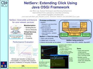 NetServ: Extending Click Using  Java OSGi Framework