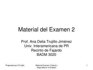 Material del Examen 2