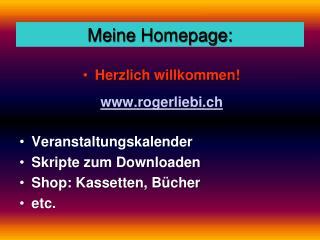 Meine  Homepage: