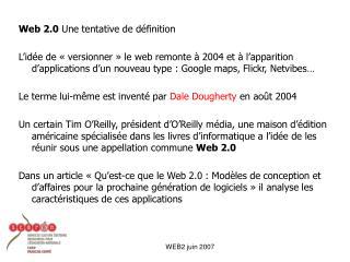 WEB2 juin 2007