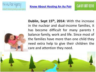 Know About Hosting An Au Pair