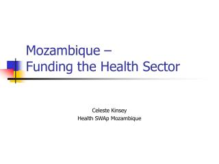 Mozambique    Funding the Health Sector