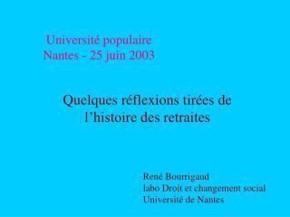 Université populaire  Nantes - 25 juin 2003