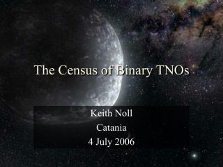 The Census of Binary TNOs