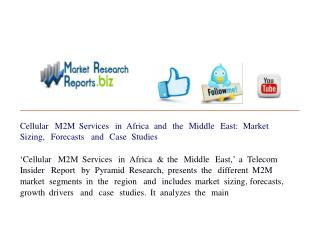 Cellular M2M Services in Africa and the Middle East: Market