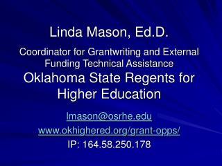 lmason@osrhe okhighered/grant-opps/ IP: 164.58.250.178