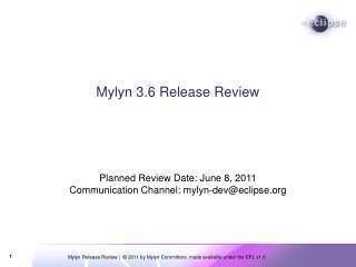 Mylyn 3.6 Release Review