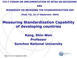 Measuring Standardization Capability of developing countries