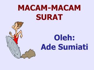 MACAM-MACAM SURAT