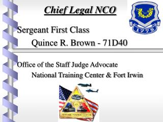 Chief Legal NCO