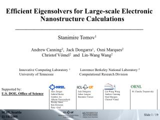 Efficient Eigensolvers for Large-scale Electronic Nanostructure Calculations