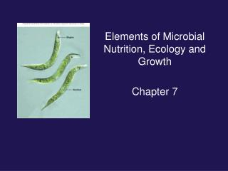 Elements of Microbial Nutrition, Ecology and Growth Chapter 7