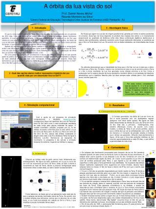 A órbita da lua vista do sol