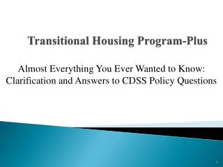 Transitional Housing Program-Plus