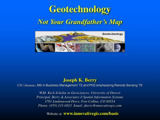Geotechnology Not Your Grandfather's Map