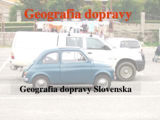 Geografia dopravy