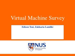 Virtual Machine Survey