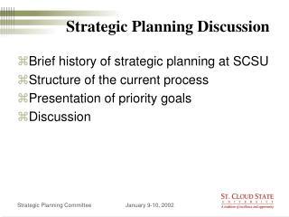 Strategic Planning Discussion