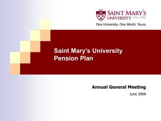 Saint Mary's University Pension Plan