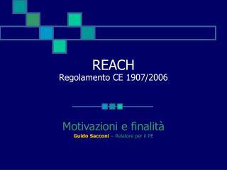 REACH Regolamento CE 1907/2006