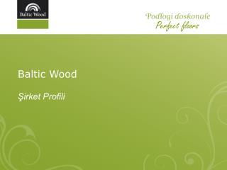 Baltic Wood Şirket Profili