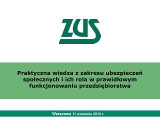 Warszawa  11 września 2012 r.