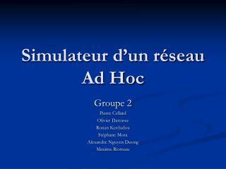 Simulateur d'un réseau  Ad Hoc