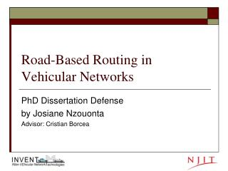 Road-Based Routing in Vehicular Networks