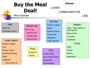 Buy the Meal Deal!