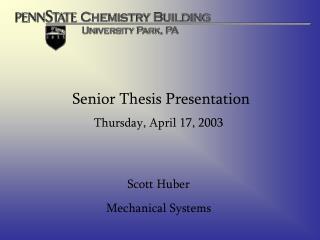 Senior Thesis Presentation