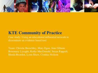 KTE Community of Practice