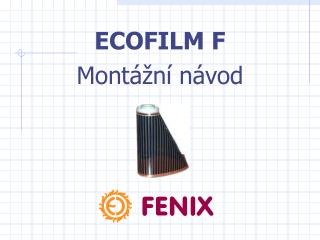 E COFILM F Montážní návod