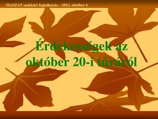 MASZAT szakköri foglalkozás – 2012. október 6.