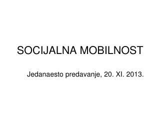 SOCIJALNA MOBILNOST