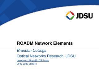 ROADM Network Elements