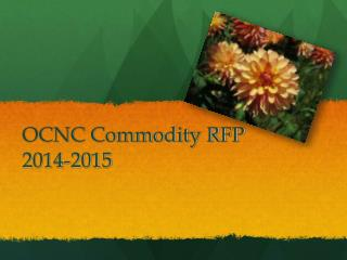 OCNC Commodity RFP  2014-2015